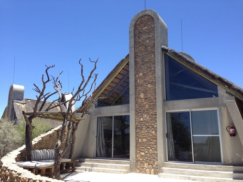 Naankuse Wildlife Lodge in Windhoek, Namibia - Chalet with relaxing deck