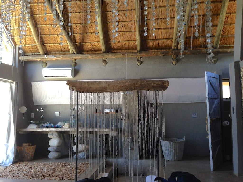 the coolest shower ever! - Chalet at Naankuse Wildlife Lodge, Windhoek, Namibia
