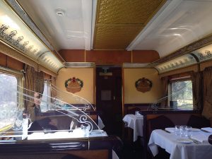 Queen Adelaide Restaurant Car on Indian Pacific Train
