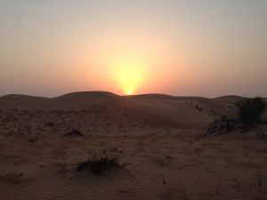 Spectacular sunset in the UAE