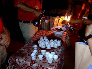 """Arabian Adventures"" Tour Guide greet with Arabian Coffee and Dates"