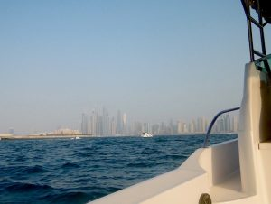Cruising towards Dubai Marina