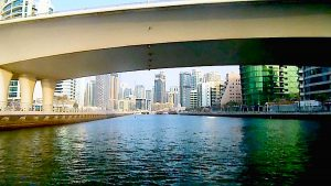 Entering Dubai Marina Canal