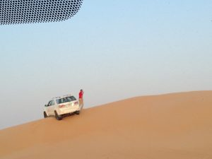 4-wheel drive stuck on a sand dune