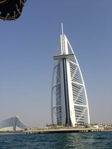 Burj Al Arab from a yacht