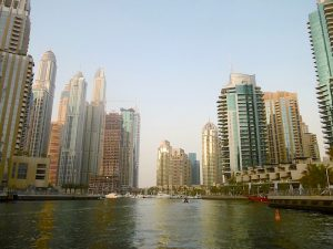 Marina Canal towards Princess Tower