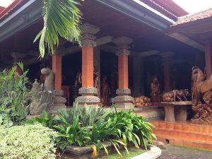 wood figures near Ubud
