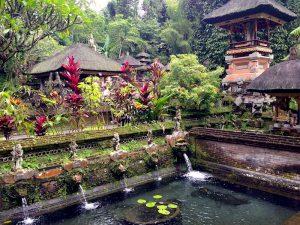temple lake in Bali