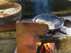 Bali Day Trips - coffee plantation on fire