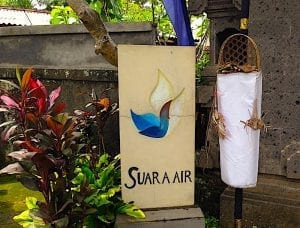 suara air entrance sign
