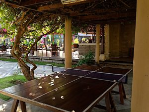 Puri Bagus Lovina terrace ping pong table