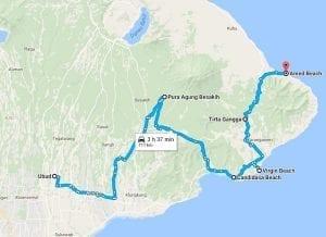 MAP Ubud via Candidasa to Amed