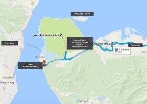 MAP West Bali National Park
