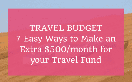 Travel Budget $500/month