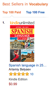 #1 Bestselling Author Artemy Belyaev - Spanish Lessons